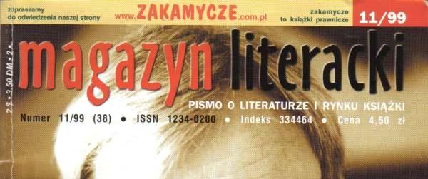 """Milion marek na pracownika, Stefan Kosiewski o rynku książki; """"magazyn literacki"""" 11/99"""