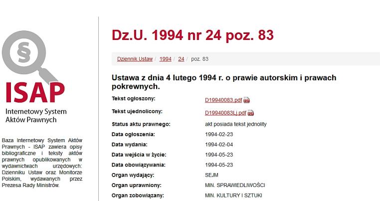 Screenshot-2017-12-16 Ustawa z dnia 4 lutego 1994 r o prawie autorskim i prawach pokrewnych