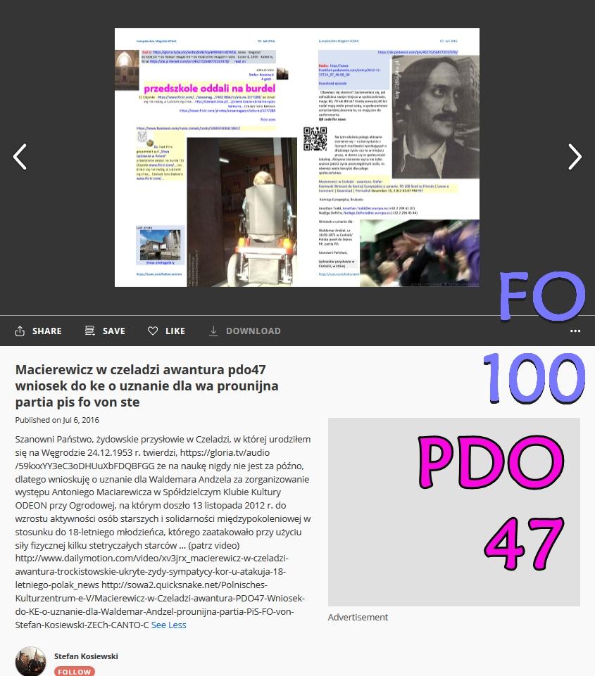 FO100 Screenshot_2019-07-09 Macierewicz w czeladzi awantura pdo47 wniosek do ke o uznanie dla wa prounijna partia pis fo von ste