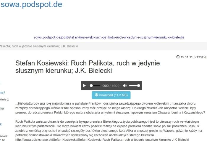 Stefan Kosiewski Ruch Palikota, ruch w jedynie J K Bielecki sowa podspot de