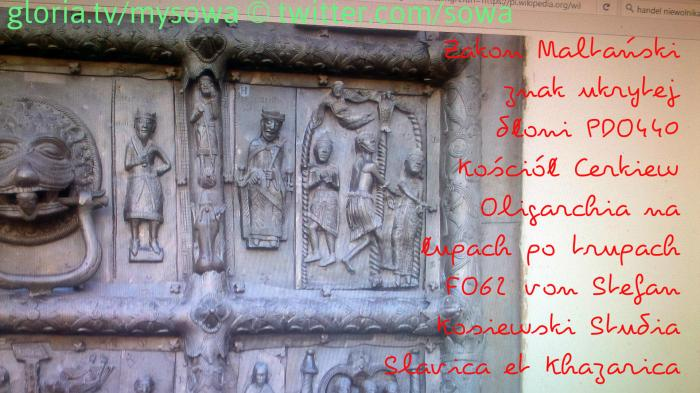 Zakon Maltański znak ukrytej dłoni PDO440 Kościół Cerkiew Oligarchia na  łupach po trupach FO62 20120814SOWA