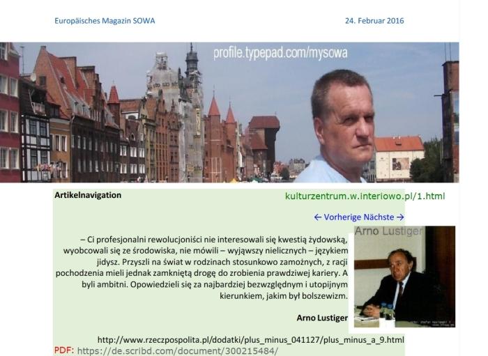 Arno Lustiger Do Prokuratury Generalnej PDO287 FO von Stefan Kosiewski ZR ZECh 3