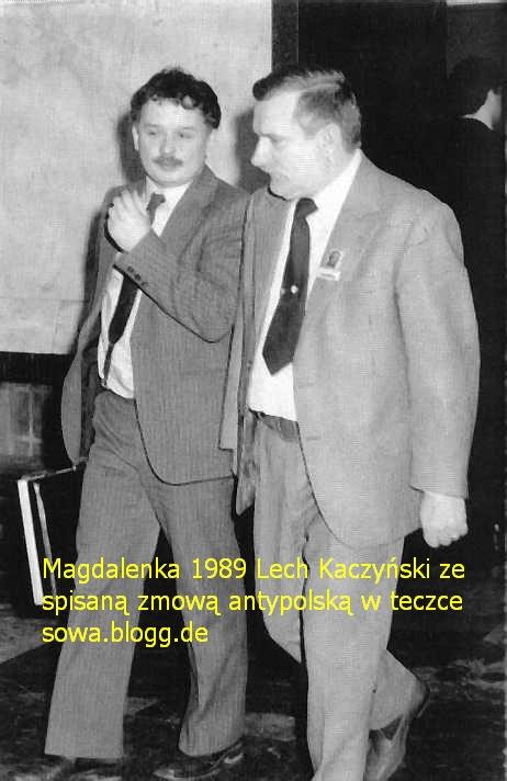 Lech Kaczyński ze spisaną zmową antyżpolską w Magdalence