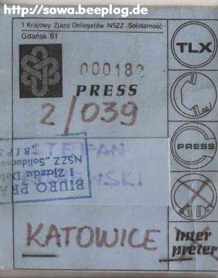 Stefan Kosiewski PDO188 do Przewodniczącego Zarządu Regionu Sląsko-Dąbrowskiej  Solidarności Dominika Kolorza ZR588 O zwrot majątku zagarniętego w staniewojennym