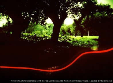 Miroslaw Rogala 1980 Polish Landscape with the Red Laser Line