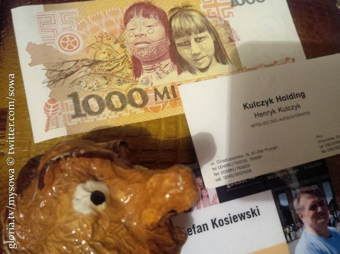 KULCZYK HOLDING bilet wizytowy nie używany, otrzymany jakieś 8 lat temu na przyjęciu noworocznym w Ambasadzie odstąpię za darmo STEFAN KOSIEWSKI am 4. Dezember2004