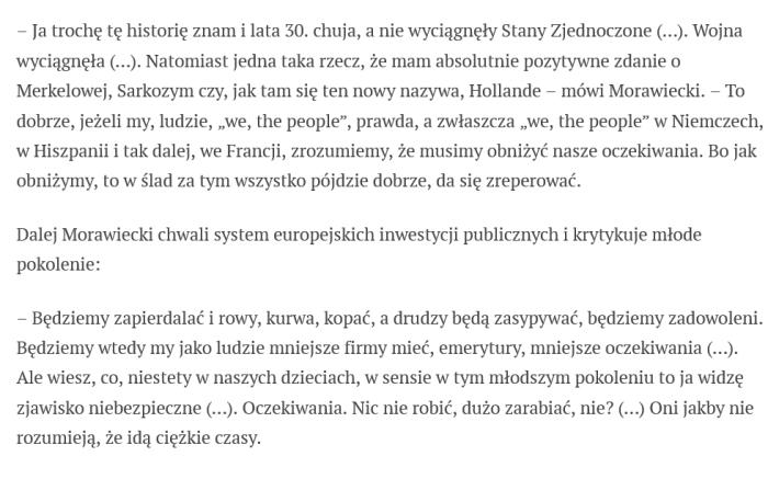 Co Morawiecki