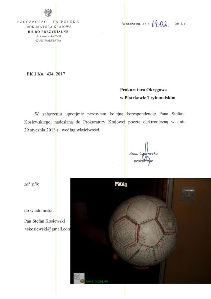 PK I Ko1 434.2017 pismo z 14.02.2018 Wyslano 19.02.2018 11 11