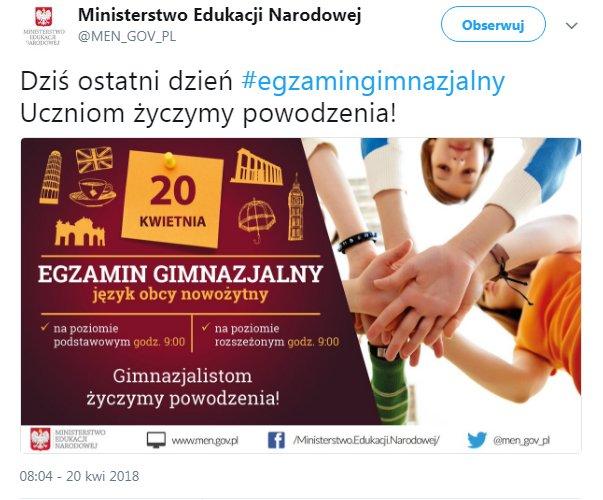 Ministerstwo Edukacji Narodowej na poziomie rozszeżonym – bżydkaliterufka