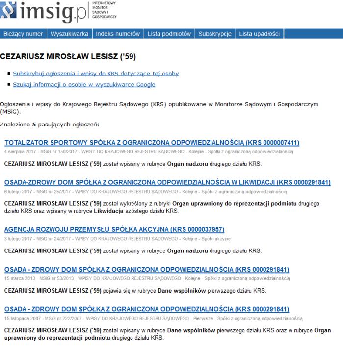 Screenshot_2018-07-11 CEZARIUSZ MIROSŁAW LESISZ (_59) - Internetowy Monitor Sądowy i Gospodarczy