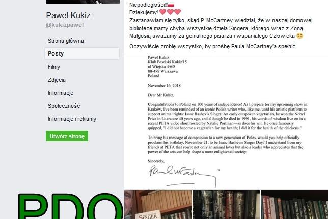 10 grudnia DNIEM SINGERA w Polsce Kukiza PDO627 FO von Stefan Kosiewski SSetKh Zniweczona RzeczywistośćZECh