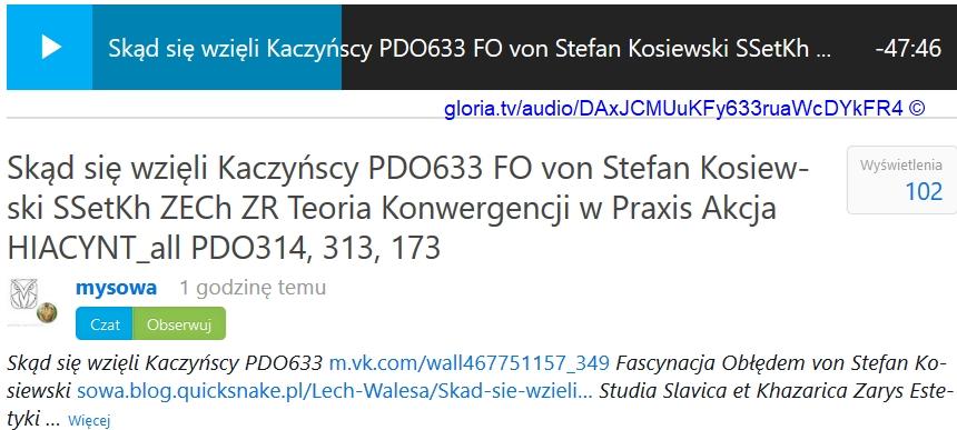 PDO633 FO von Stefan Kosiewski SSetKh ZECh ZR Teoria Konwergencji w Praxis [...]