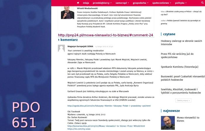 Modzelewski PDO651 Screenshot_2019-02-14 Mowa nienawiści to biznes PNP 24