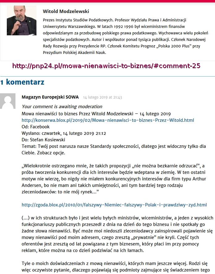 Modzelewski po cenzurze Screenshot_2019-02-14 Mowa nienawiści to biznes PNP 24(1)