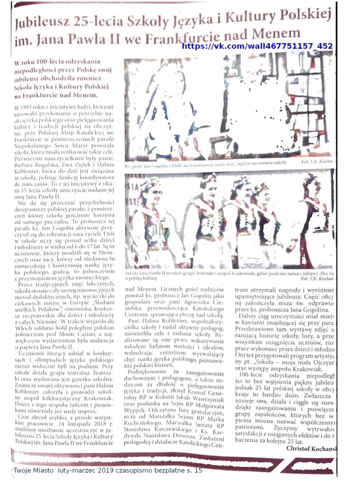 PDO654 Twoje Miasto luty-marzec 2019 czasopismo bezplatne s. 15