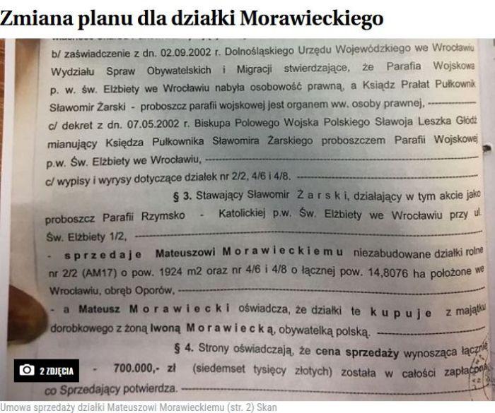 Uwłaszczenie Mateusza Morawieckiego Chcą sprzedać kawałek działki i pozwać Wyborczą (1)