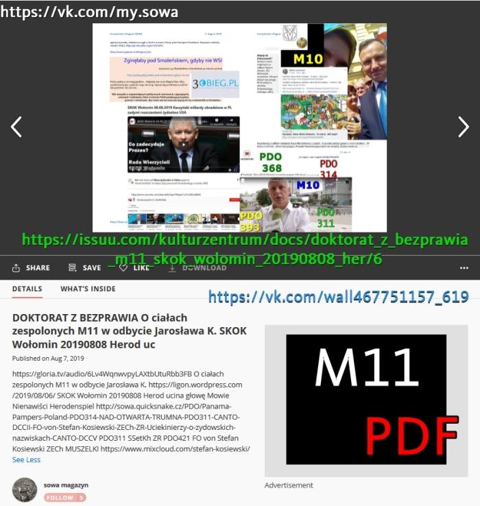 M11 Screenshot_2019-08-07 DOKTORAT Z BEZPRAWIA O ciałach zespolonych M11 w odbycie Jarosława K SKOK Wołomin 20190808 Herod uc