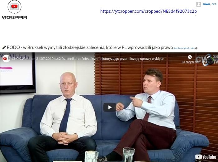 Screenshot_2019-08-11 ytCropper SKOK Wołomin 31 07 2019 cz 2 Dziennikarze