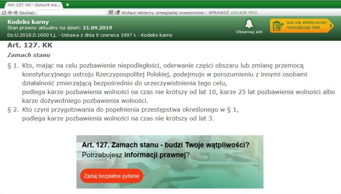 Screenshot_2019-09-21 Art 127 KK - Kodeks karny