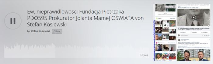 Screenshot_2019-09-28 Ew nieprawidlowosci Fundacja Pietrzaka PDO595 Prokurator Jolanta Mamej OSWIATA von Stefan Kosiewski