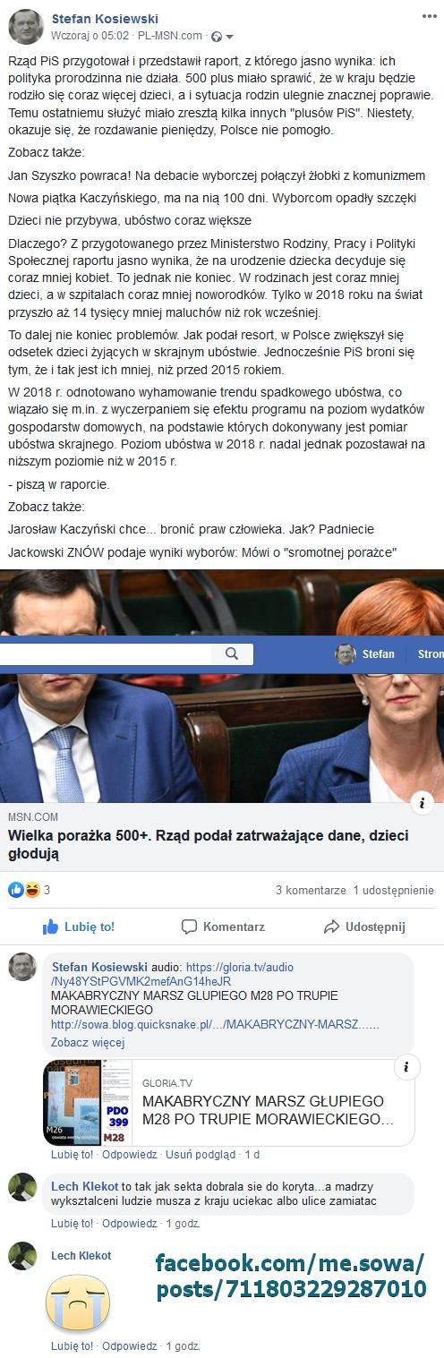 Screenshot_2019-10-09 Rząd PiS przygotował i przedstawił raport, z - Stefan Kosiewski