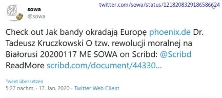 "Screenshot_2020-01-18 (1) sowa auf Twitter ""Check out Jak bandy okradają Europę https t co jMxPOk6gHW Dr Tadeusz Kruczkowsk[...]"
