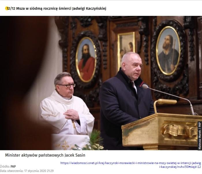 Screenshot_2020-01-18 Kaczyński, Morawiecki i ministrowie na mszy świętej w intencji Jadwigi Kaczyńskiej