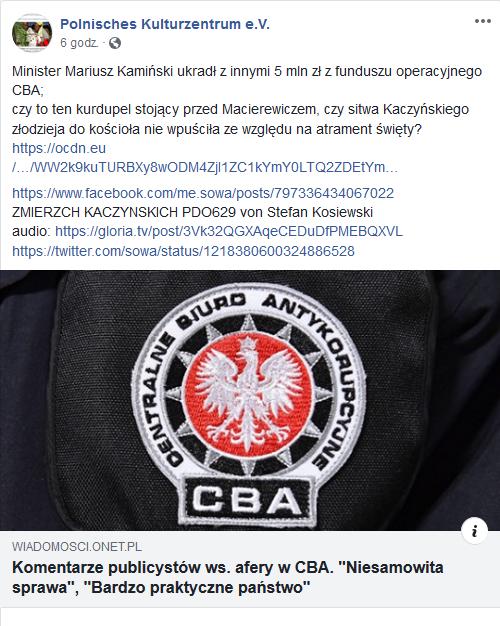 Screenshot_2020-01-18 Minister Mariusz Kamiński ukradł z innymi 5 mln - Polnisches Kulturzentrum e V