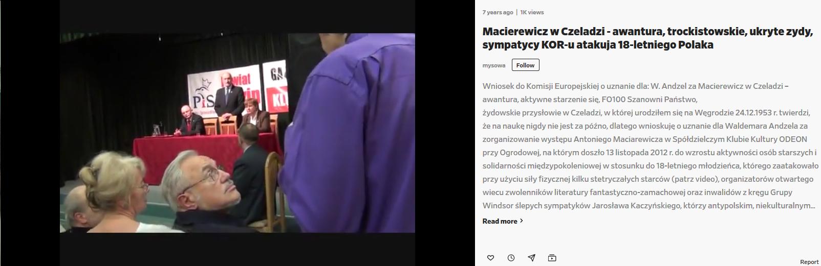Screenshot_2020-04-03 Macierewicz w Czeladzi - awantura, trockistowskie, ukryte zydy, sympatycy KOR-u atakuja 18-letniego P[...]