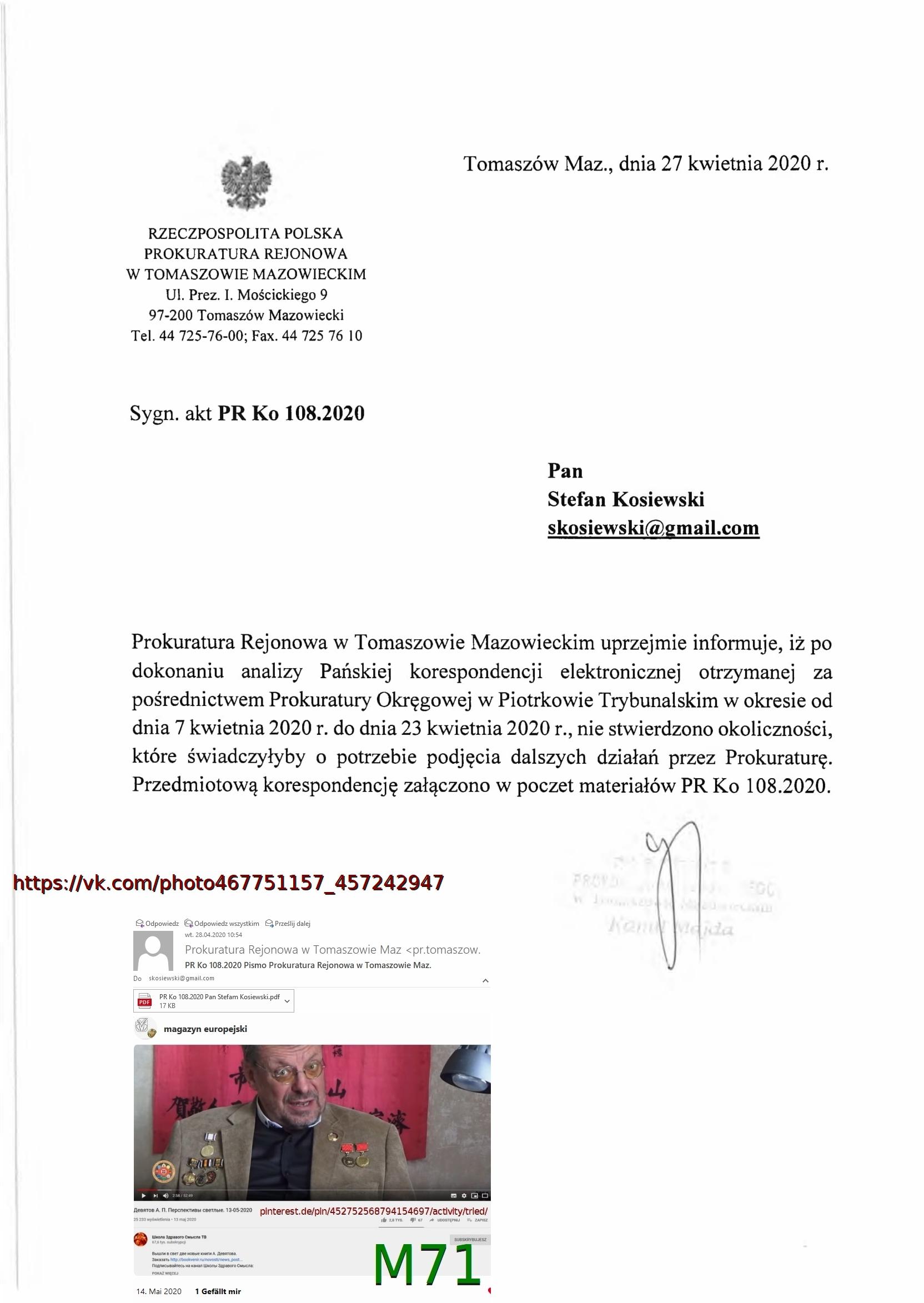PR Ko 108.2020 Pan Stefam Kosiewski 28.04.2020-1 Devyatov