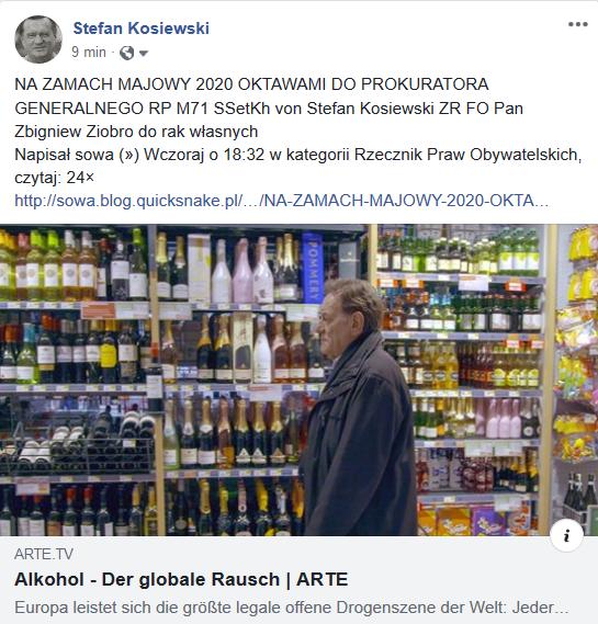 Screenshot_2020-05-13 (1) NA ZAMACH MAJOWY 2020 OKTAWAMI DO PROKURATORA - Stefan Kosiewski