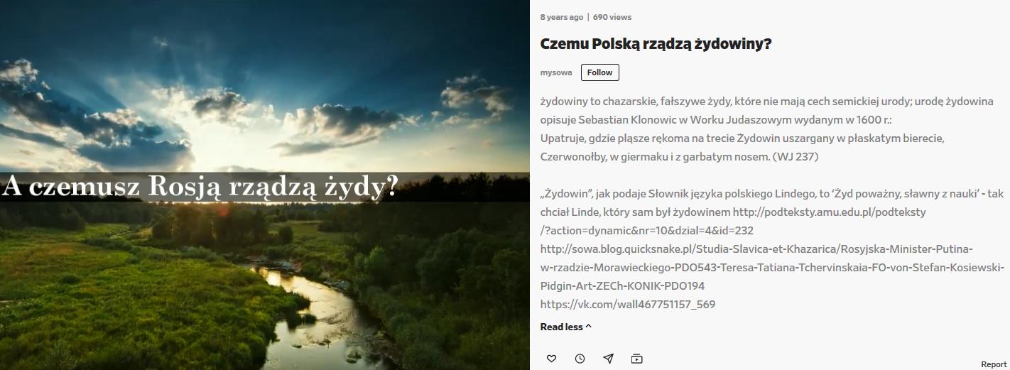 Screenshot_2020-05-13 Czemu Polską rządzą żydowiny - video dailymotion