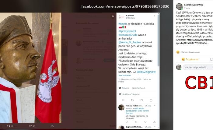 Kol. Wiktor Ostrowski z tzw. podziemnej Solidarności w Zabrzu; RUCH wojna ipokój
